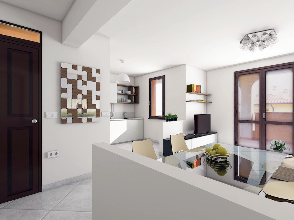 Castiglioncello newly built first floor apartment with comfortable terrace